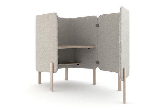Cāav desk pod with privacy wing