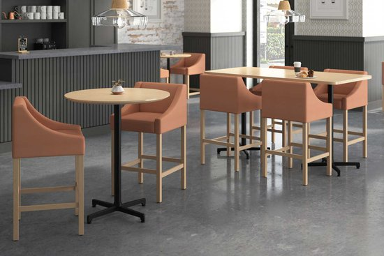 Ansen stools with Nosh tables