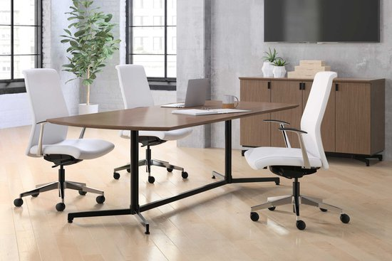 Lok conference table with Proxy swivel seating