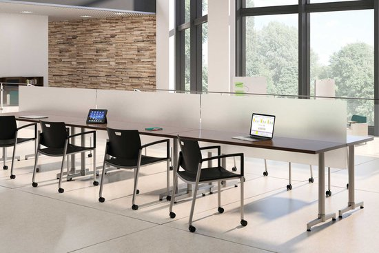 Lok training tables with privacy screens