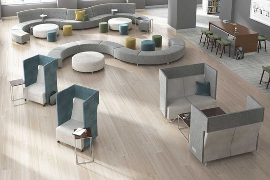 Learning - Ziva lounge and Reef tables with Bourne stools
